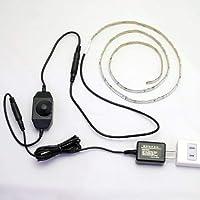 【ACアダプター・調光器セット】ハサミで切れる照明!? LEDテープライト1m セット 両面テープで超簡単取付け♪ SMD3528(60) (電球色(2700K))