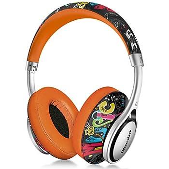 Bluedio A (Air Series) Bluetooth ヘッドホン ワイヤレスヘッドセット イヤホン ハイファッション マイク付き (落書版)