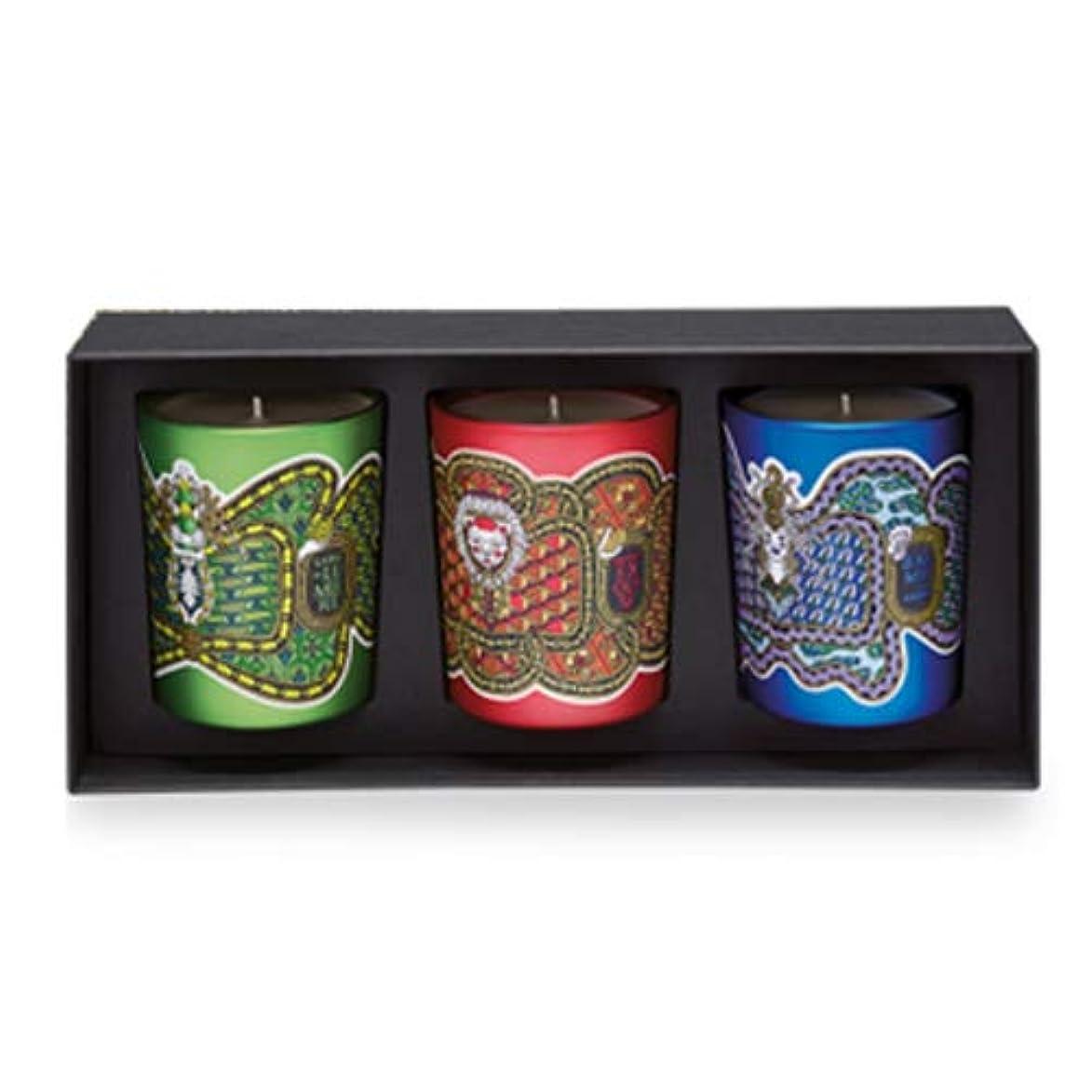 農学欠伸配置ディプティック フレグランス キャンドル コフレ 3種類の香り 190g×3 DIPTYQUE LEGENDE DU NORD SCENTED HOLIDAY 3 CANDLE SET [6586] [並行輸入品]