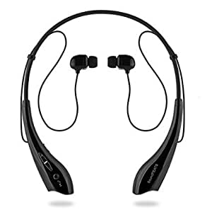 SoundPEATS【メーカー直販/1年保証付】Bluetooth イヤホン 高音質 ハンズフリー通話 ネックバンド型 CVC6.0ノイズキャンセリング機能搭載 ワイヤレス イヤホン SN01 (ブラック)