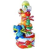 出産祝い はらぺこあおむし ストローマグ 3段 人気 おむつケーキ タワー 男の子 女の子 (メリーズS ソックス1歳前後)