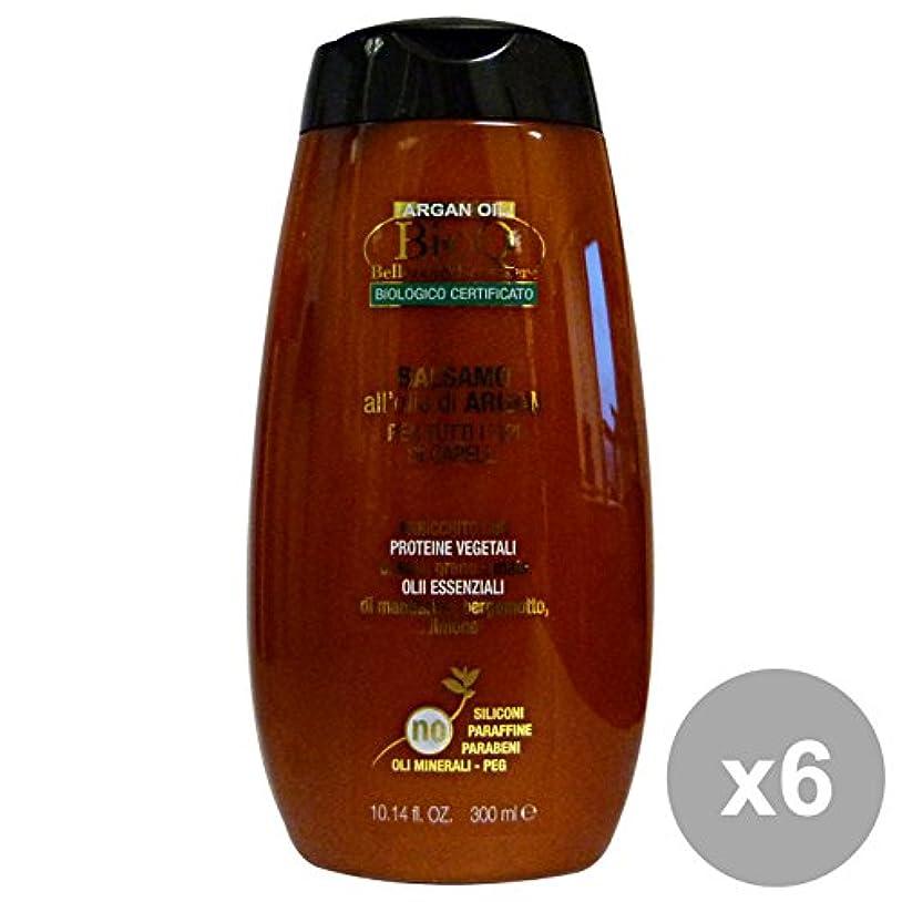 蓄積する代表冗談で6 bioqバームアルガン300mlのセット。髪のための製品