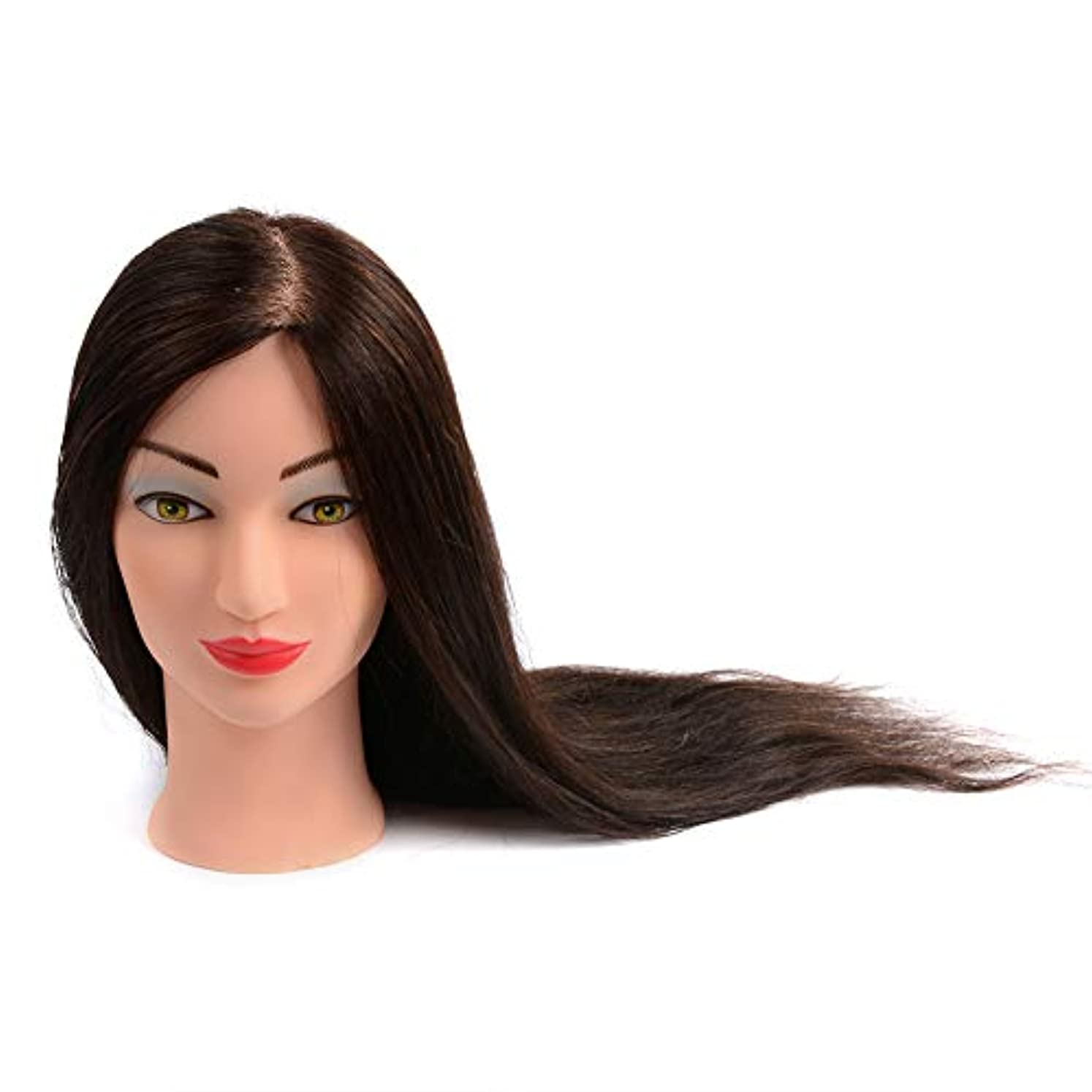 縞模様のビヨン寮サロン散髪学習ダミーヘッドブライダルメイクスタイリングプラクティスモデルの髪を染めることができ、漂白ティーチングヘッド
