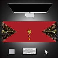 LL-COEUR 古典文化 レトロ クリエイティブ 赤 大型マウスパッド キーボード ゲーミング オフィス テーブルマット が良い 滑り止めゴム底 (41)