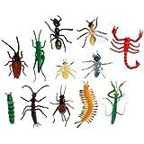 SimpleLife子供モデルの昆虫のおもちゃパーティートリック子供の教育昆虫をテーマにしたパーティー(12パック)