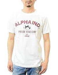 ALPHA INDUSTRIES (アルファインダストリーズ) ALPHA × FELIXプリントTシャツ TC1170 フィリックス・ザ・キャット レッド:418 Mサイズ