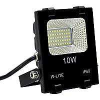 W-LITE led 投光器 30w 50w 100w 昼光色 作業灯 6000K 120度 防水加工 フラッドライト 看板灯 集魚灯 駐車場灯 ナイター 船舶 「改良版」 (昼光色, 10w)