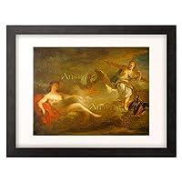 「イオと一緒のゼウスを見つけたヘラ Jupiter, Juno und Io. 1710-er Jahre.」 額装アート作品