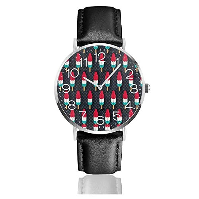 南海賊メンタルポップロケッツブラックベルトウォッチ 腕時計 おしゃれ 女性 レザーベルト ウォッチ クォーツ 時計 男女兼用