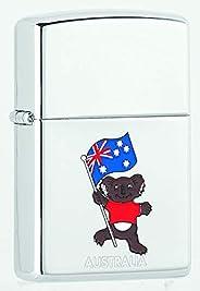 Zippo Adult-Unisex MP173477-250 Australian Koala with Flag High Polish Chrome Lighter