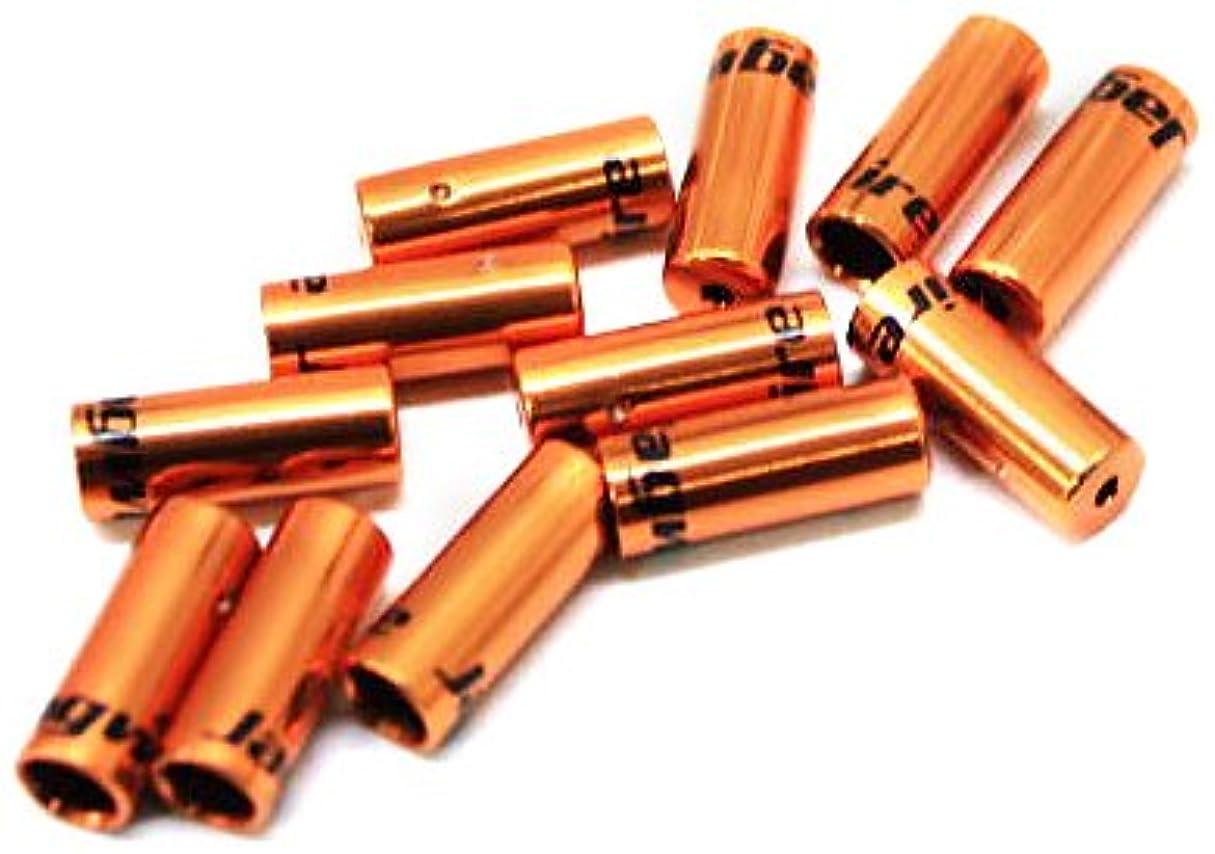 モンスター気づくなる輪郭Jagwire(ジャグワイヤー) Open End Caps 4.0mm オレンジ BOT192-2NJ