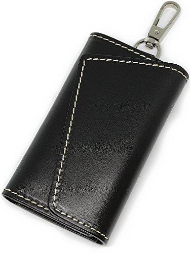 Eredità 本革 キーケース メンズ レザー スマートキー カード 革 6連 全5色 KC03 (ブラック)