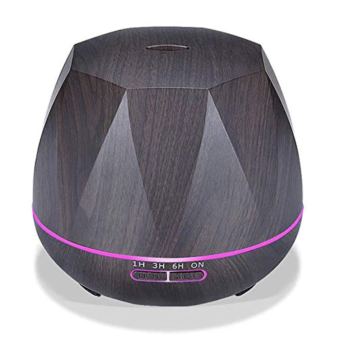 つかむ森林パイル木目 涼しい霧 加湿器,7 色 空気を浄化 加湿機 時間 デスクトップ 精油 ディフューザー アロマネブライザー Yoga ベッド 寮- 300ml