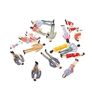 20体セット 人形 人物 人々 人間 人間フィギュア 塗装人 情景コレクション ザ ・ 鉄道模型・ジオラマ・建築模型・電車模型に  4-7cm スケール1:25