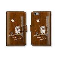 【ノーブランド品】 Xperia XZs 602SO スマホケース 手帳型 フクロウ 鳥 ブラウン 茶色 かわいい おしゃれ 携帯カバー 602SO ケース 携帯ケース エクスぺリア