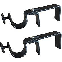 NONO Bracket - Outside Mounted Blinds Curtain Rod Bracket Attachment (Black)