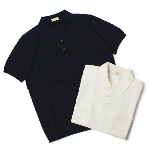 アルテア 国内正規品 コットン 半袖 ニット ポロシャツ M ホワイト