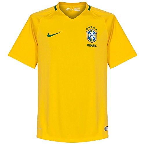 ナイキ(NIKE) ジュニア YA ブラジル代表 DRI-FIT S/S ホーム スタジアム ジャージ 724685 703 バーシティメイズ/ボルト 160