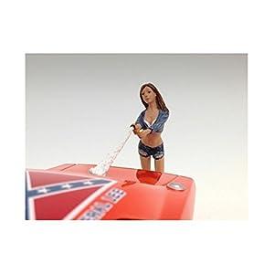 1/24 American Diorama Car Wash Girl - Jessica 女性 洗車ガール フィギュア 模型