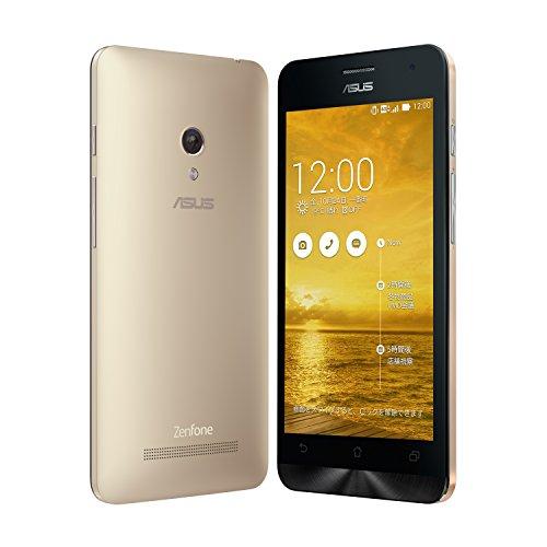 【国内正規品】ASUSTek ZenFone5 ( SIMフリー / Android4.4.2 / 5型ワイド / microSIM / 16GB / LTE / ゴールド ) A500KL-GD16