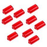 Dovewill ゴム プール ビリヤードキュー 先プロテクター 保護カバー 10個入 全2色2サイズ - 赤, サイズ1