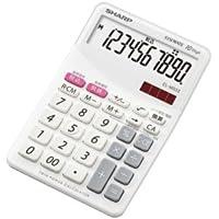 シャープ カラーデザイン電卓 10桁(バニラホワイト) EL-M333-WX