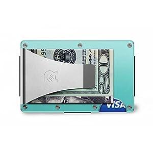 [ザ リッジ]the RIDGE スマートフォンよりも薄い財布 アルミニウムマネークリップセレステ
