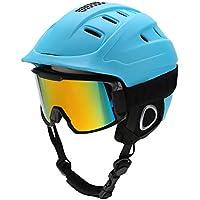 スキーヘルメット スノーボードヘルメット スノーゴーグル ゴーグル一体型 アダルト スキー用 軽量 耐衝撃 通気 屋外スポーツ 怪我防止 調節可能