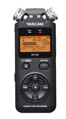 TASCAM リニアPCM/ICレコーダー 24bit/96kHz対応 無指向性ステレオマイク搭載 ブラック DR-05 VERSION2
