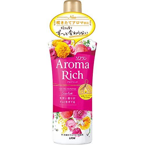 ソフラン アロマリッチ 柔軟剤 スカーレット(ハッピーフルーティアロマの香り) 本体 520ml