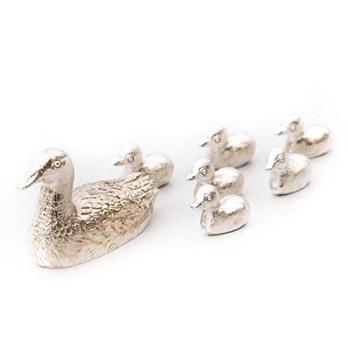 アヒル(鴨)(カモ)の親子 イギリス製 アニマル アート フィギュア コレクション