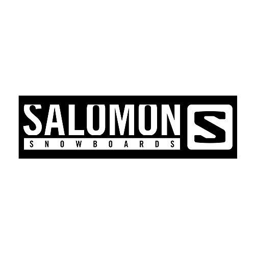 サロモン(SALOMON) スキー スノーボード ステッカー SLMN STICKERS Black L(W34×H7.2cm)サイズ L40870200