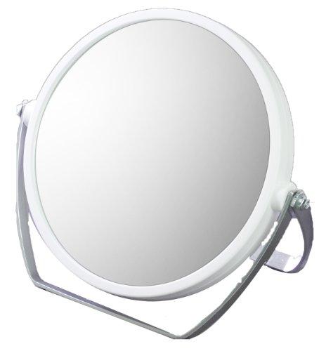 10倍拡大鏡付 両面スタンドミラー YL-1500 ホワイト...