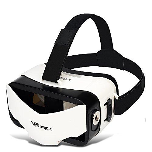 VR magic 3d vr メガネ スマホ用 全ての4.0-5.5インチのスマホ機種対応可能 229g 13 x 6.7 x 9cm 黒色