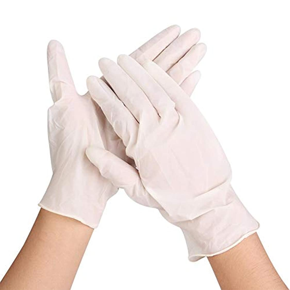 リテラシー怒って引き受けるラテックス手袋、食器洗い、キッチン、作業用、ガーデン手袋用の使い捨て伸縮性耐久性手袋50個, 50個使い捨て手袋ラテックス皿洗い/キッチン/仕事/ゴム/庭の手袋