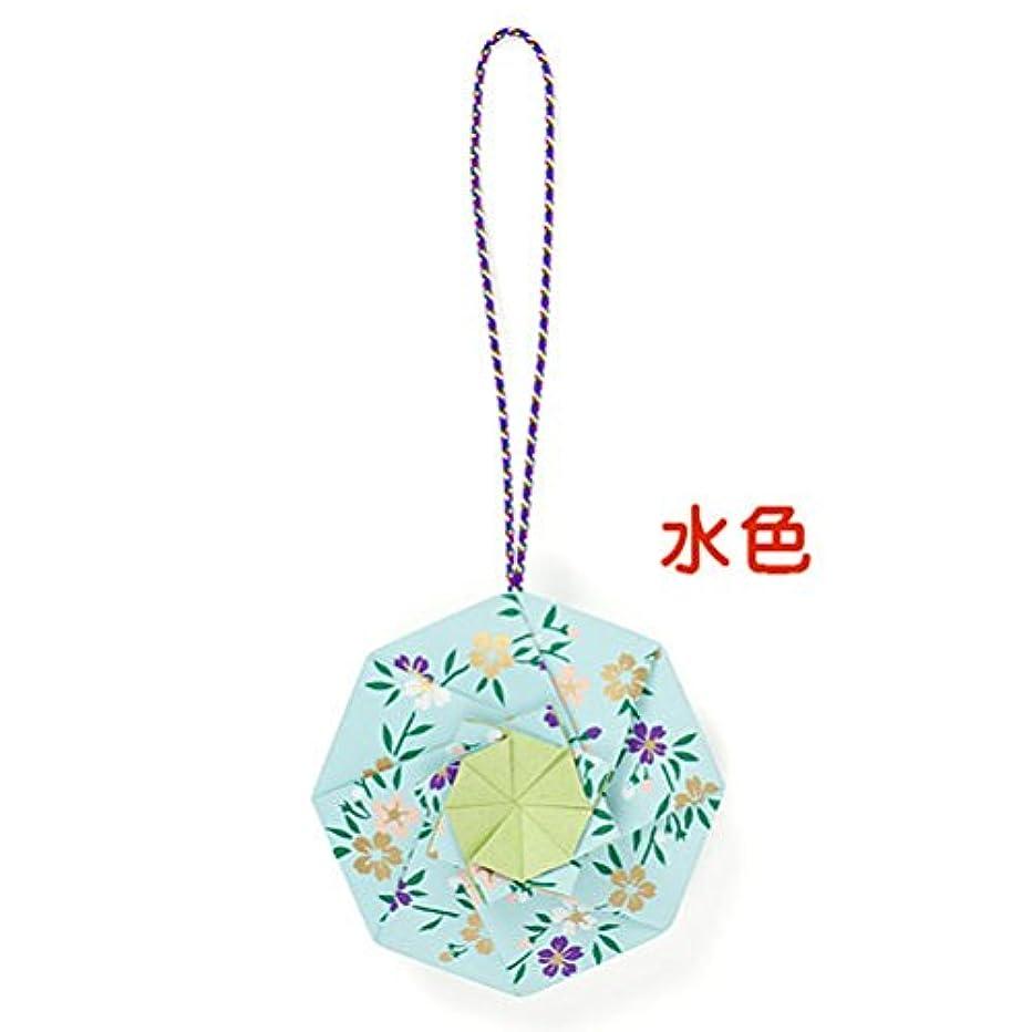 タイプライター甘美な日記松栄堂 匂い袋 花くるま 1個入 (色をお選びください) (水色)