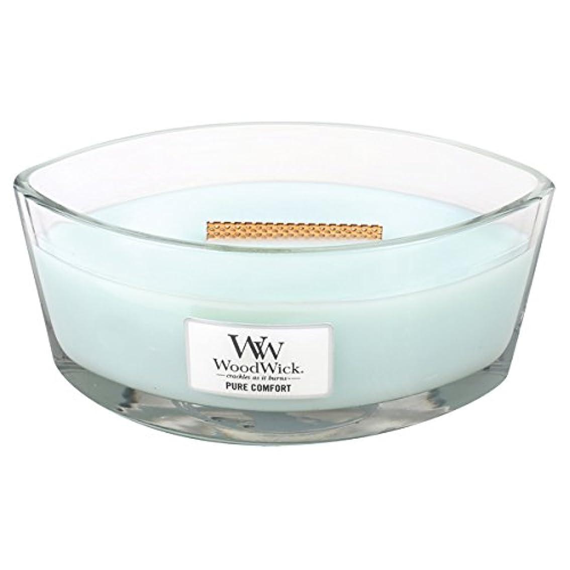 呼吸する禁止プラットフォームWood Wick ハースウィックL 「 ピュアコンフォート 」 キャンドル W940053027