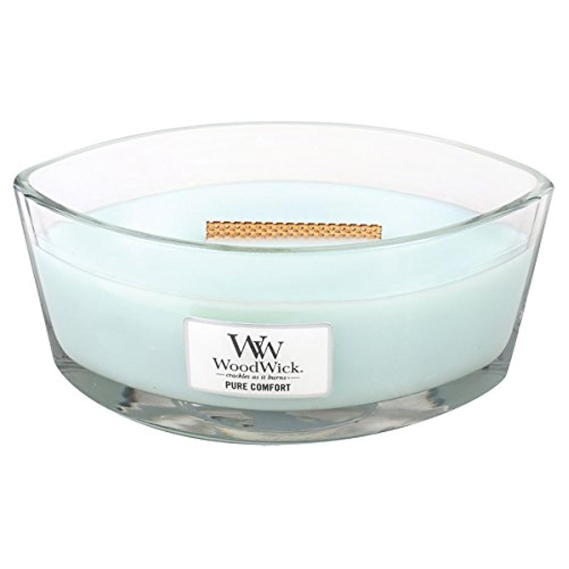 ボーナス速度刃Wood Wick ハースウィックL 「 ピュアコンフォート 」 キャンドル W940053027