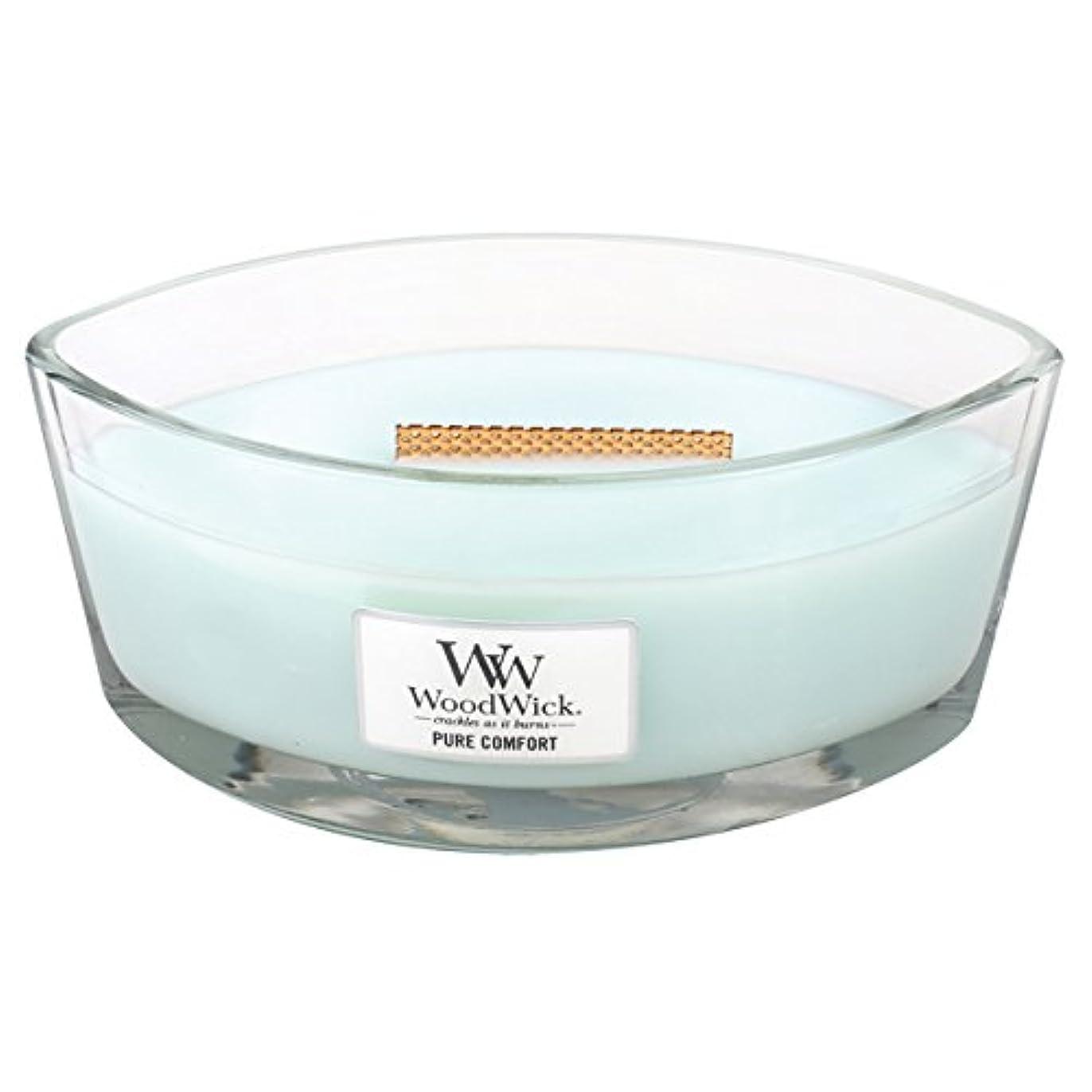 精度トースト時計回りWood Wick ハースウィックL 「 ピュアコンフォート 」 キャンドル W940053027
