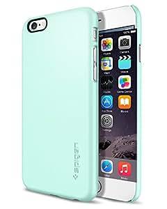 【Spigen】 スマホケース iPhone6 ケース 薄型 軽量 傷防止 カメラ保護 ハードカバー シン・フィット SGP10938 (ミント)