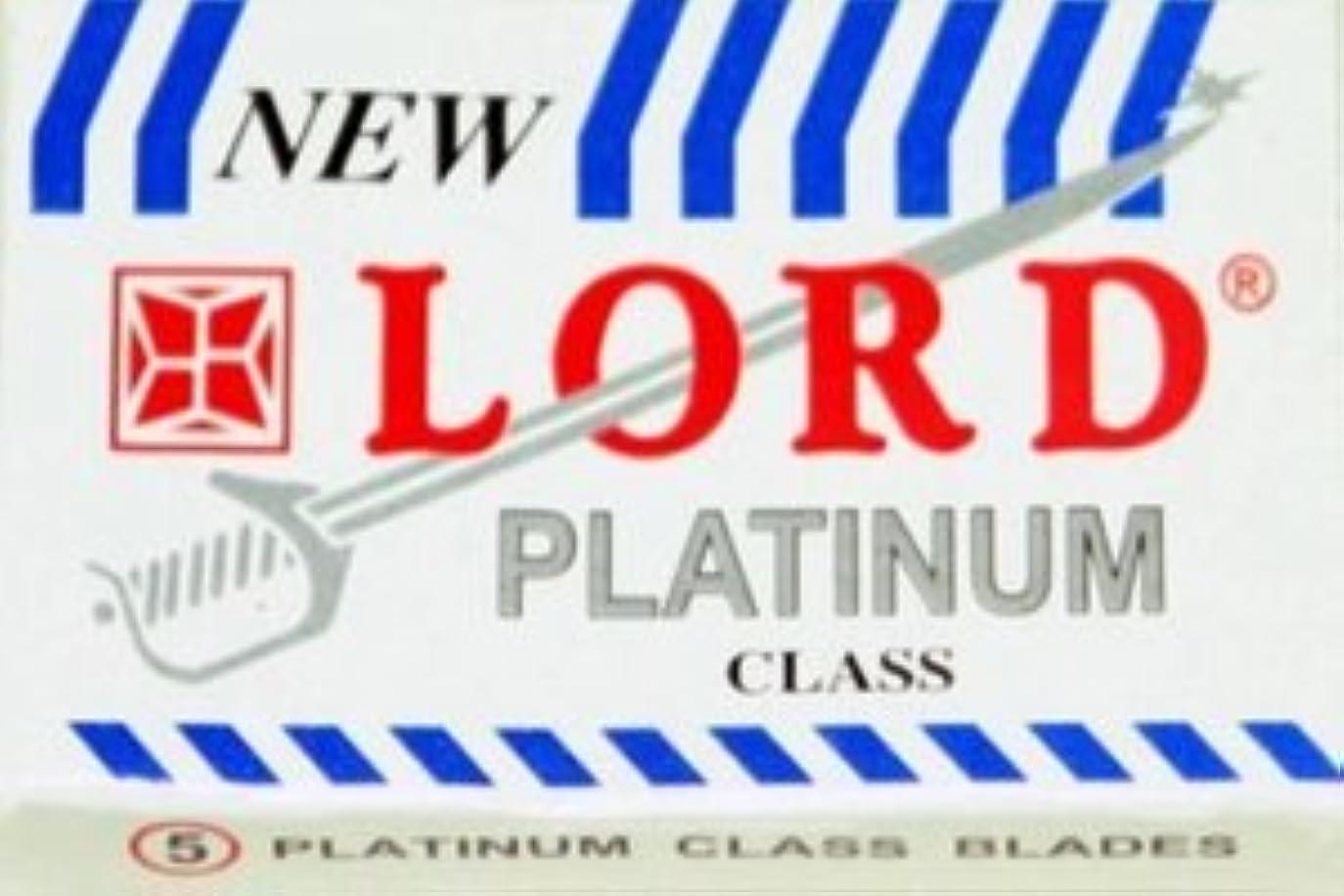 徐々に槍落ち着くLord Platinum 両刃替刃 5枚入り(5枚入り1 個セット)【並行輸入品】