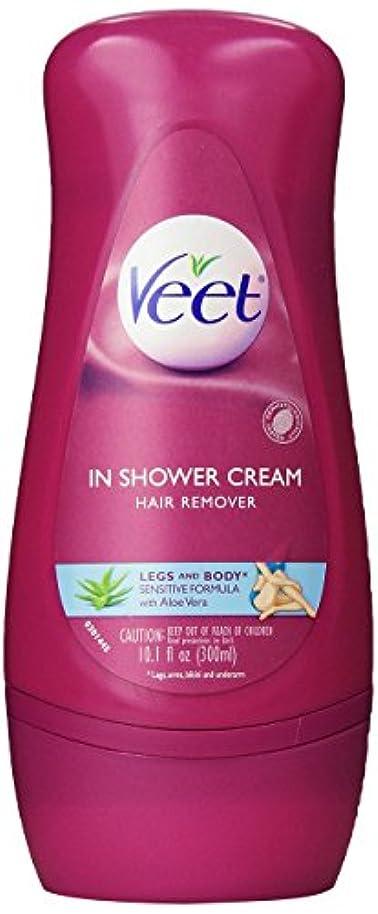 耐久策定する出撃者Veet in Shower Hair Removal Cream Sensitive Formula Aloe Vera 300 ml [並行輸入品]
