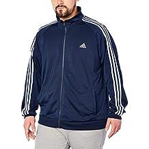 adidas Mens Adidas Men's Athletics Essential Tricot 3 Stripe Track top S1754MCL319