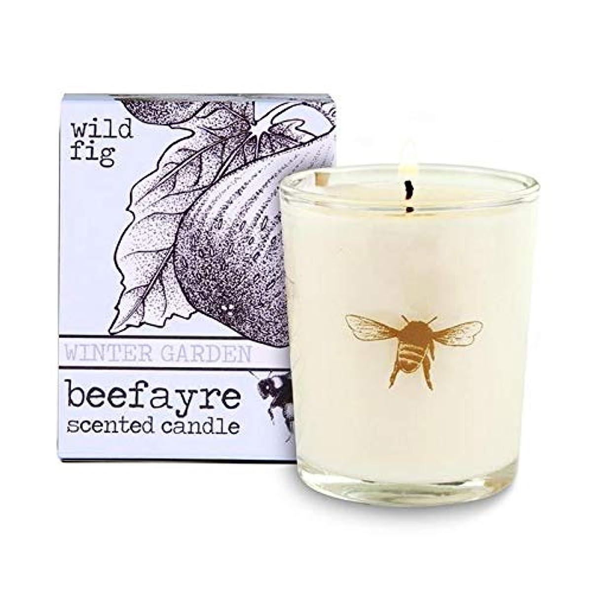 後世ヒント朝食を食べる[Beefayre] 野生のイチジク小さな香りのキャンドルBeefayre - Beefayre Wild Fig Small Scented Candle [並行輸入品]