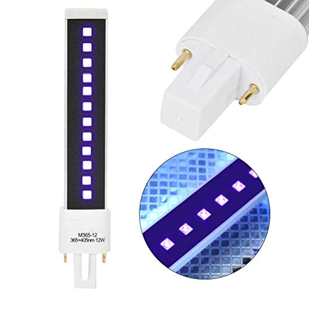 ファブリック販売員電卓9W 36W 54W LED 12セット付き 二重光源 釘ゲル ドライヤー 軽い管 取り替えランプ 交換用 球根