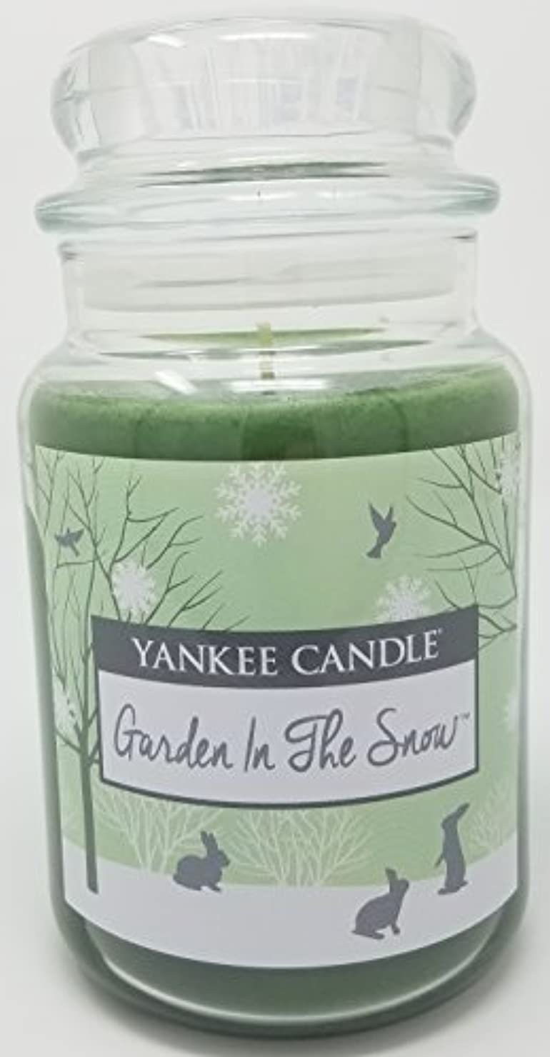 会員許されるペナルティYankee Candle Garden in the Snow Large Jar Candle