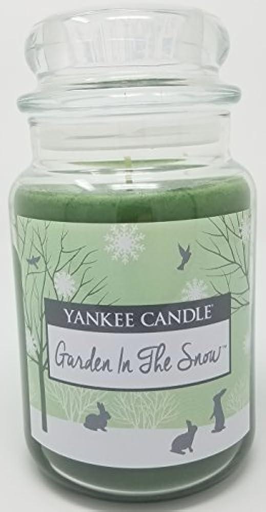 普通に科学的高価なYankee Candle Garden in the Snow Large Jar Candle