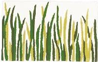 洗える 【 北欧モダン 】 マット glass-5080 グリーン 約50×80cm prevell プレーベル 日本製 玄関マット キッチンマット 滑り止め加工 green 緑 みどり 植物 葉