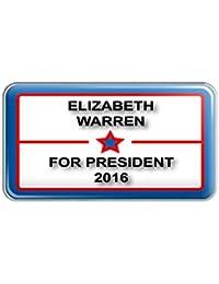 Elizabeth Warren 2016 For President with Star Metal Lapel Hat Pin Tie Tack Pinback