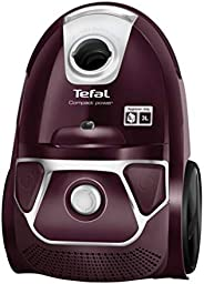 Tefal TW3969 Compact Power Bagged Vacuum Cleaner, 750W, Purple
